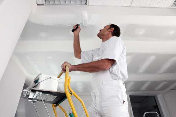 Как побелить потолок своими руками не смывая фото 306